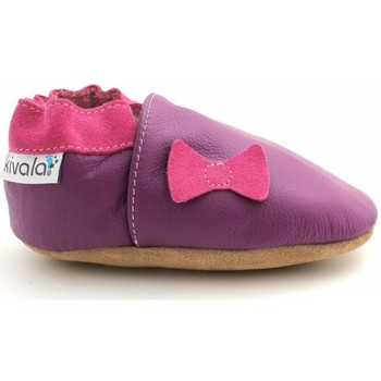 Chaussures Chaussons Kivala Chaussons cuir souple Noeud violet