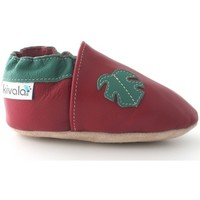 Chaussures Chaussons Kivala Chaussons cuir souple Tropical rouge
