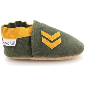 Chaussures Chaussons Kivala Chaussons cuir souple Army vert