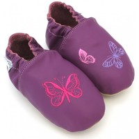 Chaussures Chaussons Kivala Chaussons souples antiderapants Papillon violet
