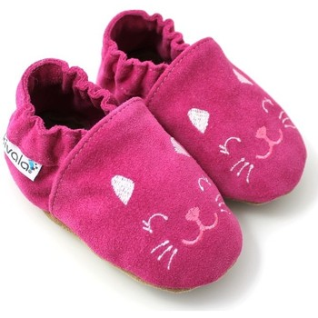 Chaussures Chaussons Kivala Chaussons souples antiderapants Chat rose