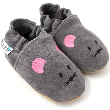 Chaussures Chaussons Kivala Chaussons souples antiderapants Souris Gris