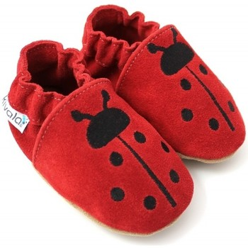 Chaussures Chaussons Kivala Chaussons souples antiderapants Coccinelle rouge