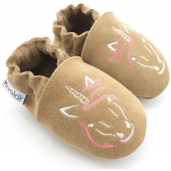 Chaussures Chaussons Kivala Chaussons souples antiderapants Licorne Beige