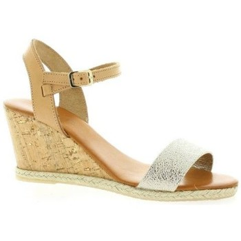Chaussures Femme Espadrilles Pao Nu pieds cuir laminé Or