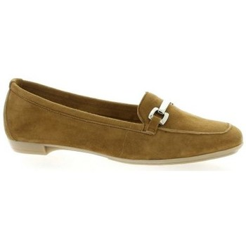 Chaussures Femme Mocassins So Send mocassins cuir velours Camel