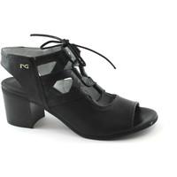 Chaussures Femme Sandales et Nu-pieds Nero Giardini 05720 noir chaussures femme en cuir sandales talon lacets Nero
