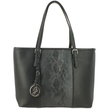 Sacs Femme Cabas / Sacs shopping Gallantry Sac shopping  Noir Serpent Noir