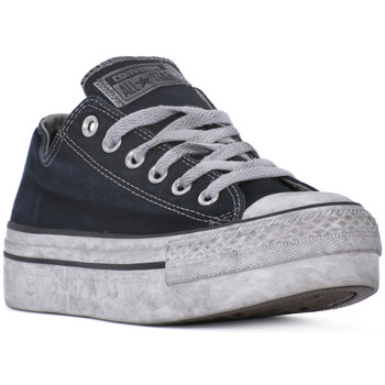Chaussures Femme Baskets basses Converse ALL STAR PLATFORM OX BLACK SMOKE Nero