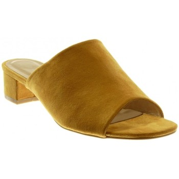 Chaussures Femme Claquettes Forever Folie Angkorly - Sandale Mule slip-on Jaune