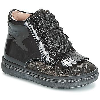 Chaussures Fille Baskets montantes Acebo's DOLAGIRI Noir / Argenté
