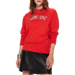 Vêtements Femme Sweats Maison Scotch CREW NECK SWEAT WITH RAGLAN SLEEVES rouge