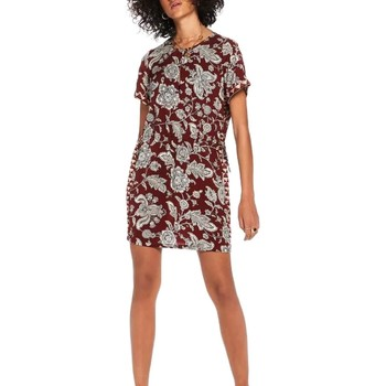 Vêtements Femme Robes Maison Scotch SHORT SLEEVE PRINTED DRESS WITH ELASTICA Rouge