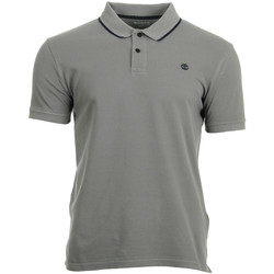 Vêtements Polos manches courtes Timberland SS GD Pque Polo Slim gris