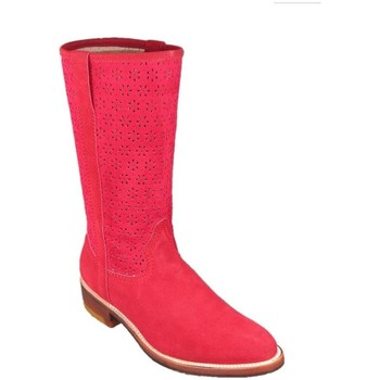Chaussures Femme Bottes Go'west Manade Croute Gowest Botte Rouge