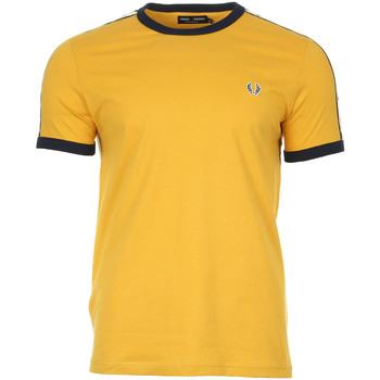 Vêtements Homme T-shirts manches courtes Fred Perry Taped Ringer T-Shirt jaune