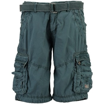 Vêtements Homme Shorts / Bermudas Geographical Norway Bermuda Homme Palmier Bleu