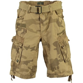 Vêtements Homme Shorts / Bermudas Geographical Norway Bermuda Homme Panoramique Camo Beige