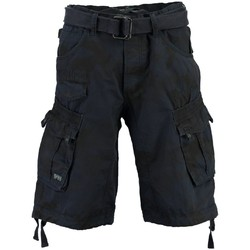 Vêtements Homme Shorts / Bermudas Geographical Norway Bermuda Homme Panoramique Camo Marine