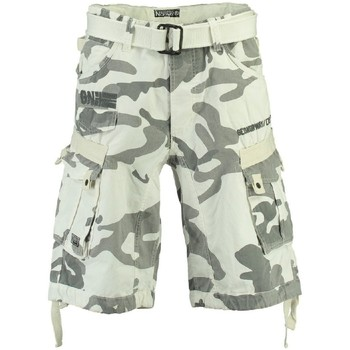 Vêtements Homme Shorts / Bermudas Geographical Norway Bermuda Homme Panoramique Camo Blanc