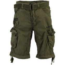 Vêtements Homme Shorts / Bermudas Geographical Norway Bermuda Homme Panoramique Basic Kaki
