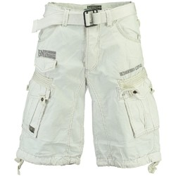 Vêtements Homme Shorts / Bermudas Geographical Norway Bermuda Homme Panoramique Basic Blanc