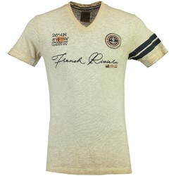 Vêtements Homme T-shirts manches courtes Geographical Norway Tshirt Homme Joujou Beige