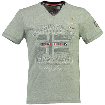 Vêtements Homme T-shirts manches courtes Geographical Norway Tshirt Homme Jouri Gris