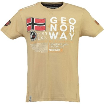 Vêtements Homme T-shirts manches courtes Geographical Norway Tshirt Homme Jasado Beige