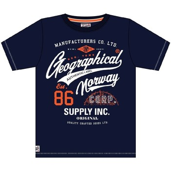 Vêtements Homme T-shirts manches courtes Geographical Norway Tshirt Homme Jercy Marine