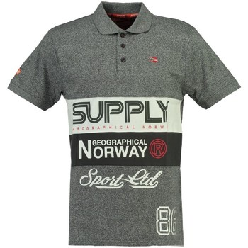 Vêtements Homme Polos manches courtes Geographical Norway Polo Homme Karchie clair Gris