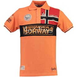 Vêtements Homme Polos manches courtes Geographical Norway Polo Homme Koala Orange