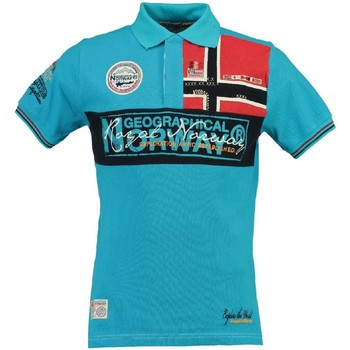 Vêtements Homme Polos manches courtes Geographical Norway Polo Homme Koala Bleu