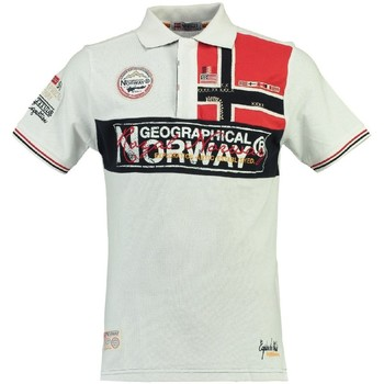 Vêtements Homme Polos manches courtes Geographical Norway Polo Homme Koala Blanc