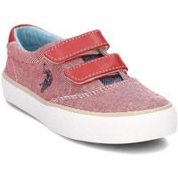 Chaussures Femme Baskets basses U.S Polo Assn. Galab Blanc-Rouge