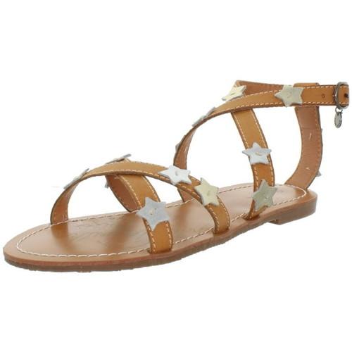 Pepe jeans Sandales  ref_pep43370-848 marron Marron - Chaussures Sandale