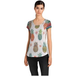 Vêtements Femme T-shirts manches courtes Desigual T Shirt Camille Blanc 18SWTKGZ 1