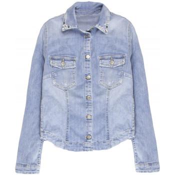 Vêtements Femme Vestes en jean Le Temps des Cerises Veste en jeans Nacre Bleu 19