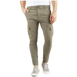 Vêtements Homme Pantalons Le Temps des Cerises Pantalon Treillis Jack Khaki Vert