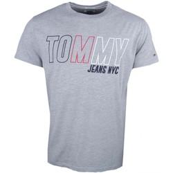 Vêtements Homme T-shirts manches courtes Tommy Jeans T-shirt col rond  gris pour homme Gris