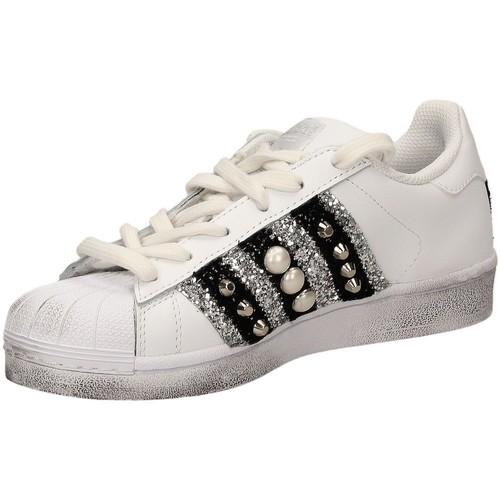 adidas Originals SUPERSTAR BANDA blanc - Chaussures Baskets basses Femme