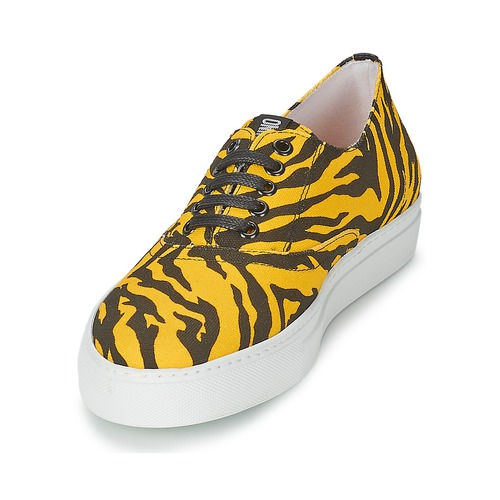 Femme Basses Chaussures JauneNoir Chic Baskets Liboria Moschino Cheapamp; rhQxsdtC