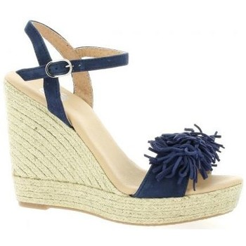 Chaussures Femme Espadrilles Pao Espadrille cuir velours Marine