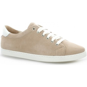 Chaussures Femme Baskets basses So Send Baskets cuir velours Nude