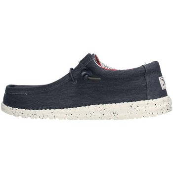 Chaussures Homme Baskets basses Hey Dude WALLY STRETCH Sneaker Homme Bleu Bleu