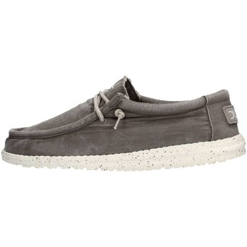 Chaussures Homme Chaussures bateau Hey Dude WALLY WASHED Sneaker Homme Gris Gris