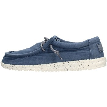 Chaussures Homme Chaussures bateau Hey Dude WALLY WASHED Sneaker Homme Bleu Bleu