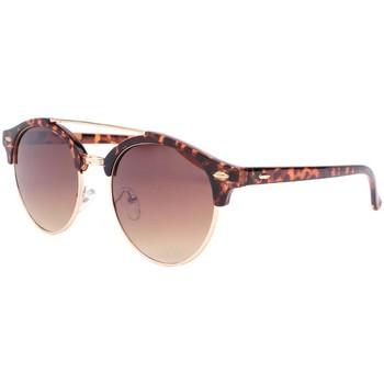 Montres & Bijoux Lunettes de soleil Eye Wear Lunettes de soleil rondes club marron vintage Fily Marron