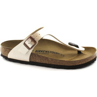 Chaussures Femme Tongs Birkenstock GIZEH BS 943871 pantoufles blanches perle femmes tongs Beige
