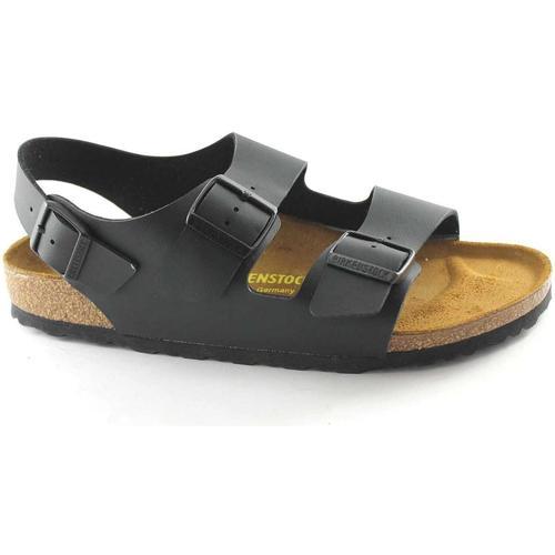 Birkenstock MILANO 34793 noir sandales noires homme boucles Nero - Chaussures Sandale Homme